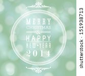 vector merry christmas and... | Shutterstock .eps vector #151938713