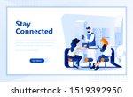 social network flat web page...