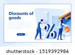 discounts of goods flat web...   Shutterstock .eps vector #1519392986