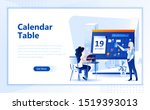 calendar table flat web page...