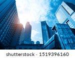 looking up blue modern office... | Shutterstock . vector #1519396160