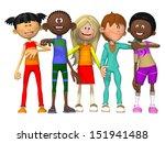 group of  happy children | Shutterstock . vector #151941488