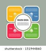 vector progress background  ... | Shutterstock .eps vector #151944860