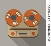 Retro Vintage Reel To Reel Tap...
