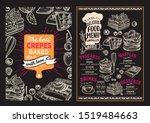 waffle and pancake menu... | Shutterstock .eps vector #1519484663