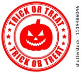 trick or treat vector sign on... | Shutterstock .eps vector #1519486046