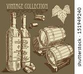 vector wine set | Shutterstock .eps vector #151949240