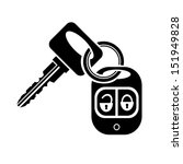 icon key with car alarm | Shutterstock .eps vector #151949828