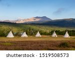 Beautiful View Of The Tipi In A ...