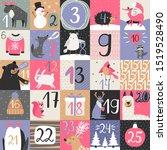 Advent Calendar. Christmas...