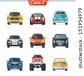 Stock vector car icon set 151954979