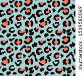 leopard skin. animal print.... | Shutterstock .eps vector #1519580069