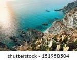 coast near the town of tropea... | Shutterstock . vector #151958504