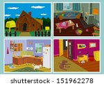 old house set | Shutterstock .eps vector #151962278