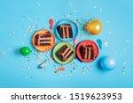 Chocolate Birthday Cake Slices...