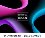 abstract colorful moving... | Shutterstock .eps vector #1519629596