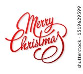 christmas card with text merry... | Shutterstock .eps vector #1519629599