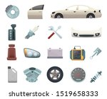 car parts. automobile creation...   Shutterstock . vector #1519658333