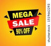 mega sale modern banner...   Shutterstock .eps vector #1519662293