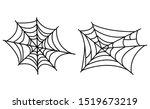 halloween spider web isolated...   Shutterstock .eps vector #1519673219