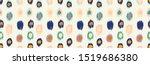 polka dot pattern. ikat... | Shutterstock .eps vector #1519686380