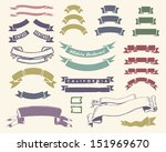 vintage ribbons set | Shutterstock .eps vector #151969670