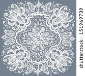 abstraction floral lace pattern   Shutterstock .eps vector #151969739
