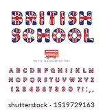 british school font. great... | Shutterstock .eps vector #1519729163