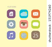 flat icons | Shutterstock .eps vector #151974260