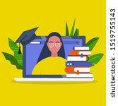 online education. webinar....   Shutterstock .eps vector #1519755143