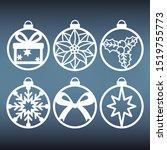 set of christmas balls... | Shutterstock .eps vector #1519755773