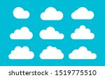 set of clouds on a blue... | Shutterstock .eps vector #1519775510
