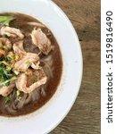 thai beef noodles braised taste ... | Shutterstock . vector #1519816490