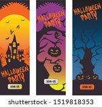 some set of halloween theme... | Shutterstock .eps vector #1519818353