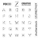 set of creative letter...   Shutterstock .eps vector #1519827419