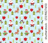 cheerful and cute christmas... | Shutterstock .eps vector #1519827653