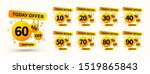 vector yellow sale tags set.... | Shutterstock .eps vector #1519865843