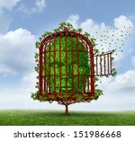 freedom of the mind concept as... | Shutterstock . vector #151986668