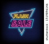 flash sale neon signs style... | Shutterstock .eps vector #1519896146