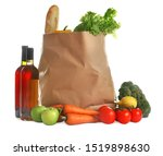 paper bag full of products on...   Shutterstock . vector #1519898630