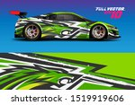 car wrap or decal vinyl sticker ... | Shutterstock .eps vector #1519919606