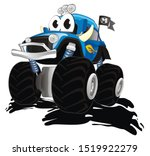 funny monster truck and mud | Shutterstock . vector #1519922279