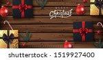 christmas decorative border... | Shutterstock .eps vector #1519927400