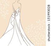 bride in beautiful wedding...   Shutterstock .eps vector #151993028