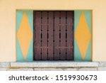 wooden window frame colored... | Shutterstock . vector #1519930673