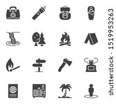 hiking travel vector icons set  ... | Shutterstock .eps vector #1519953263