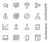 Startup Line Icons Set. Linear...