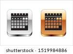 black calendar icon isolated on ...