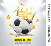 soccer ball with gold crown and ...   Shutterstock .eps vector #1519991693