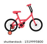 pink children's bicycle flat... | Shutterstock .eps vector #1519995800